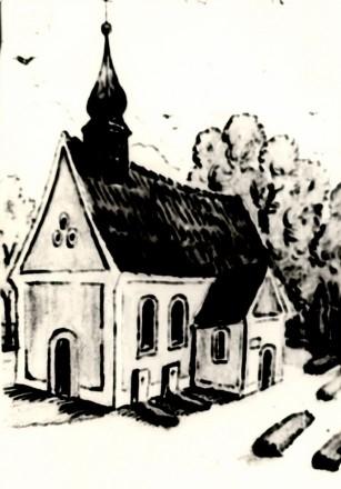 1760 Kirche zu Eythra Zeichnung
