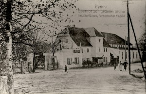 1920-Postkarte Gasthof Grüne Eiche
